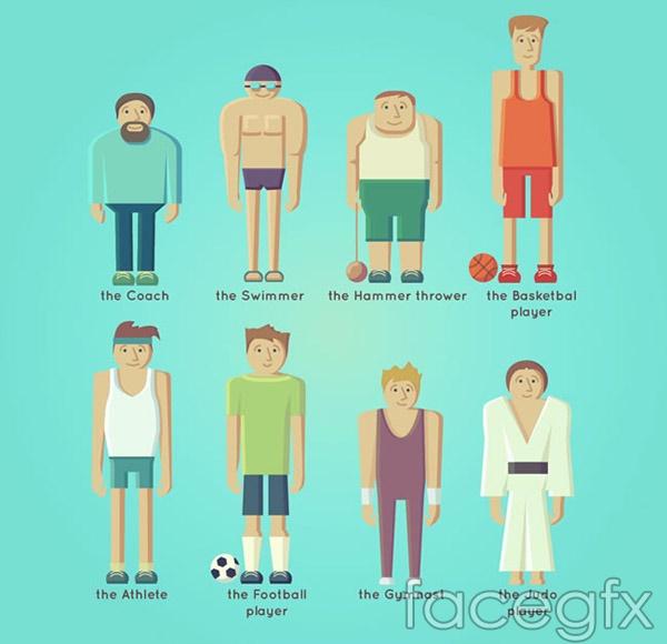 Athlete design vector