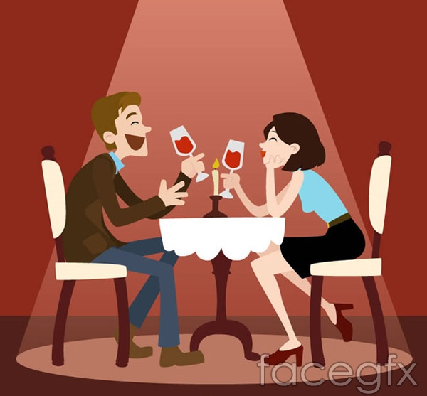 Cartoons dating for men and women vector