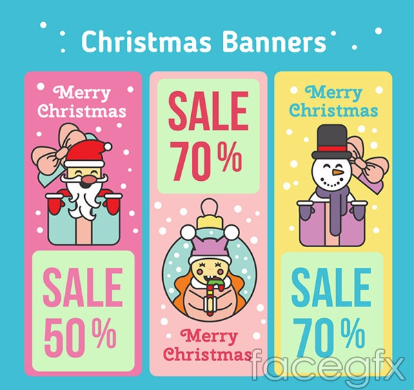 Christmas promotion banne vector