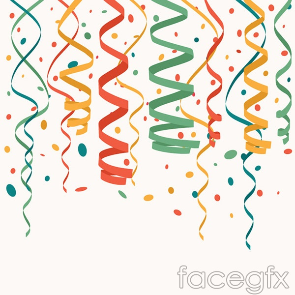 Confetti holiday background vector