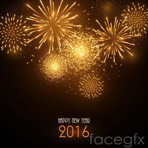 Golden Festival Fireworks vector