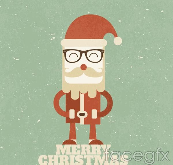 Retro Santa vector