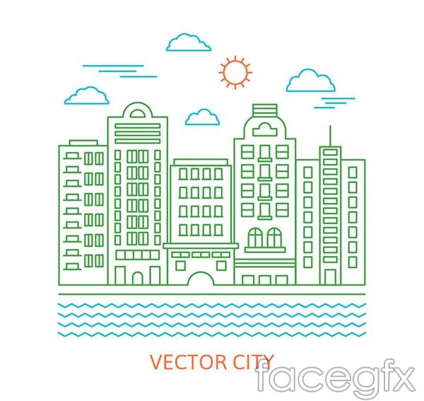 River cities construction vector