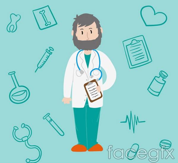 The bearded doctor vector
