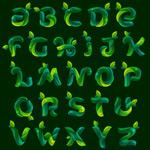 Leaf alphabet vector