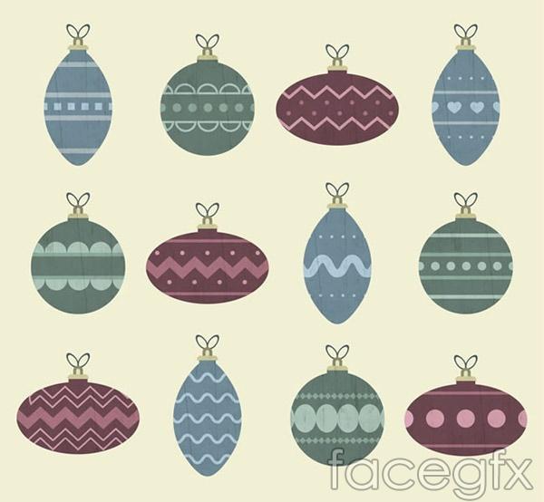 Color Christmas ball vector
