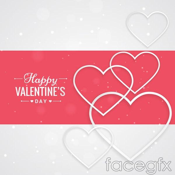 Elegance love cards vector