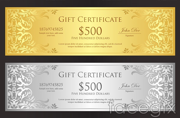 Gold coupon vector