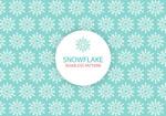 Fresh snowflakes seamless background vector