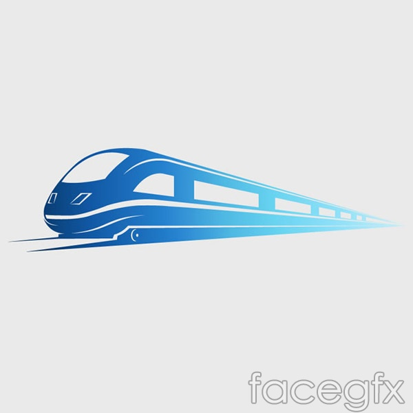 Train logo vector