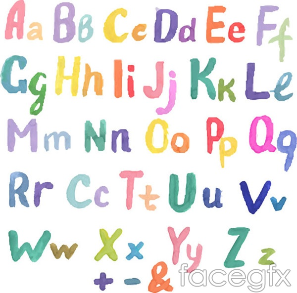 Uppercase and lowercase letters of the alphabet vector
