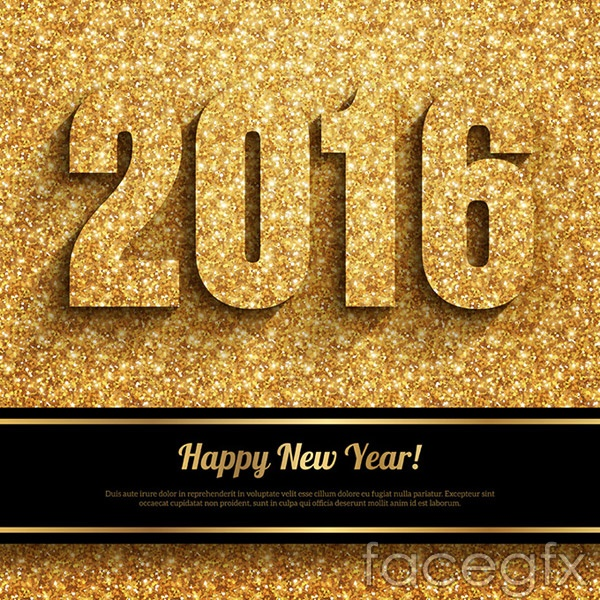2016 new year element vector