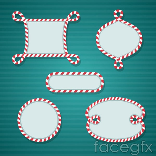 Christmas style blank label vector