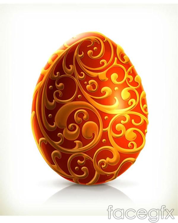 Easter egg pattern vector