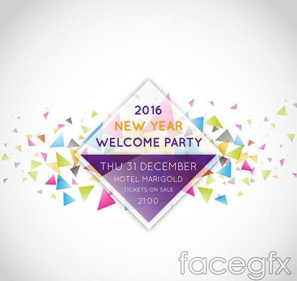 Fashion a new year's Party poster vector