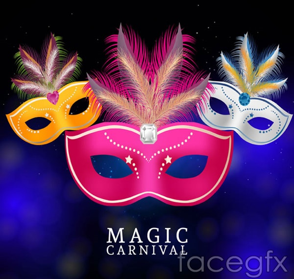 Fashion mask vector