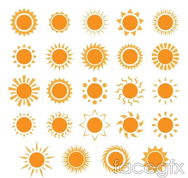 The Sun icon vector