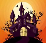 Halloween Castle design vector