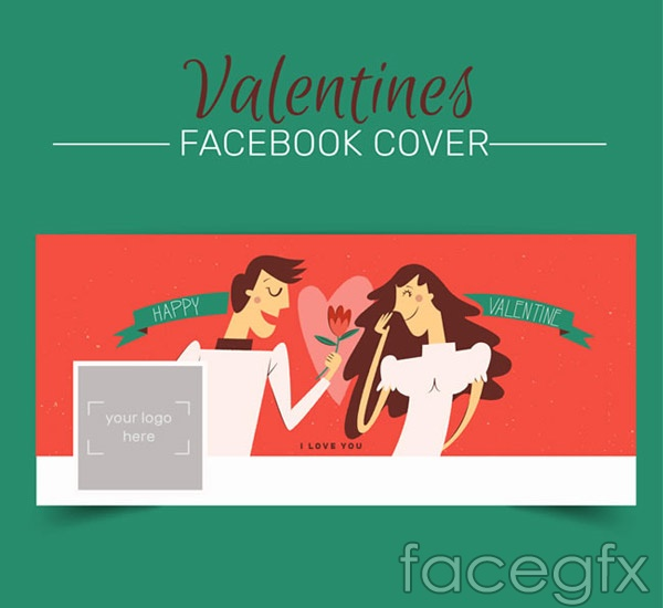 Valentine's day lovers covers vector
