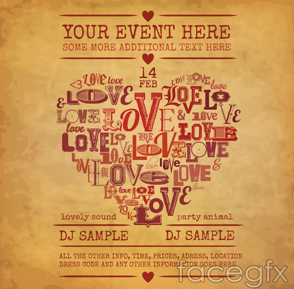 Art of love poster vector