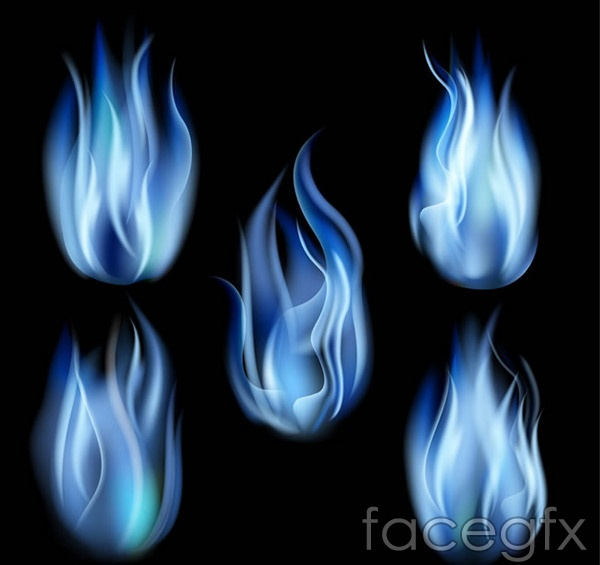 Blue fire vector
