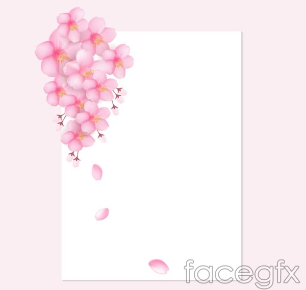 Cherry Blossom decorative papers vector