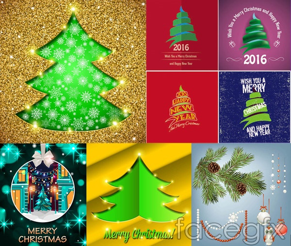 Christmas ball Christmas tree vector
