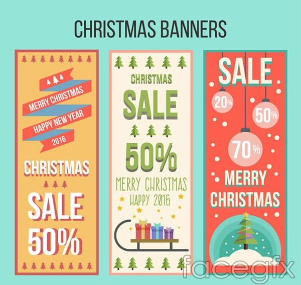 Christmas discount banne vector