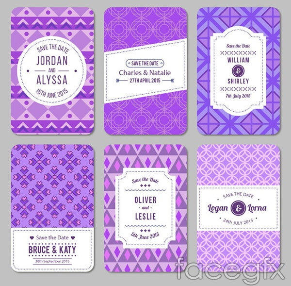 European wedding cards vector