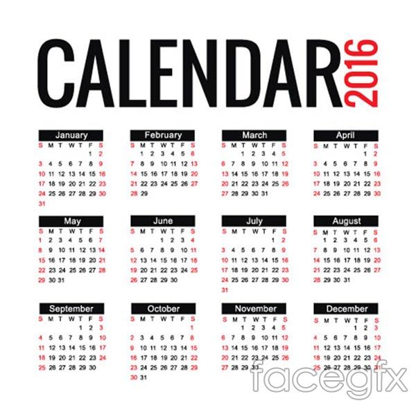 Fashion calendar calendar vector