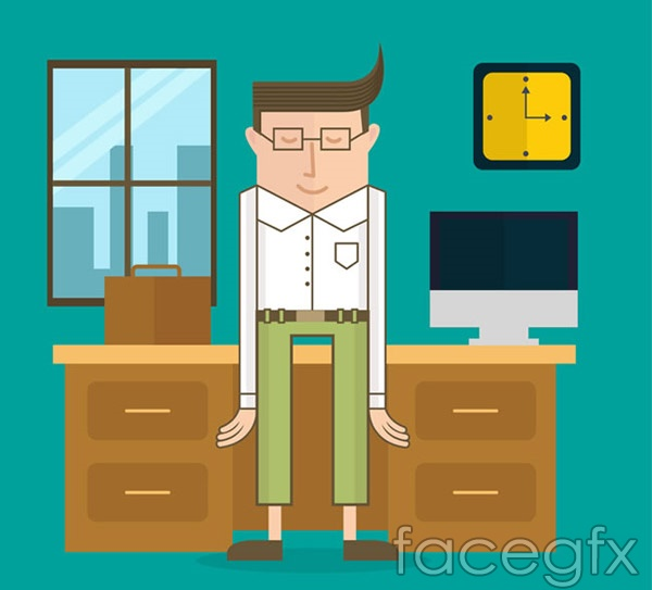 Office business man vector