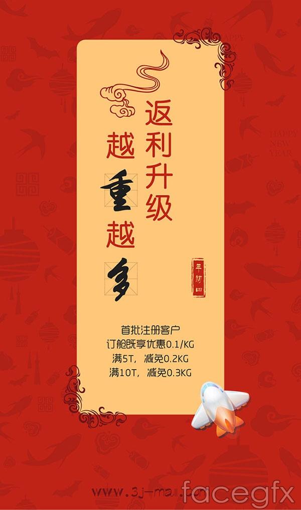Rebate promotion poster vector