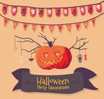 Halloween Pumpkin party poster vector