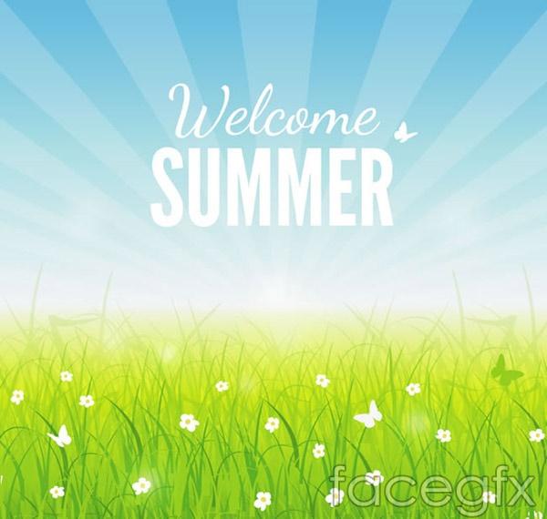 Summer fresh grass vector