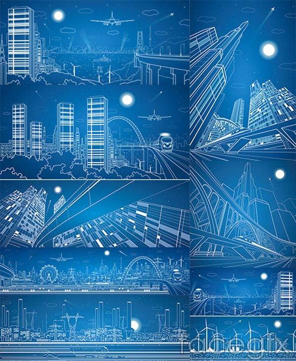 Architectural design of line vectors