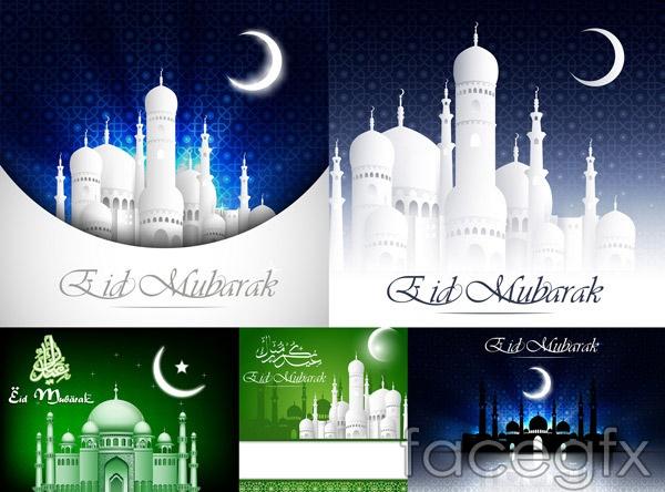 Islamic architecture in vector