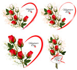 Valentine's day with roses vector