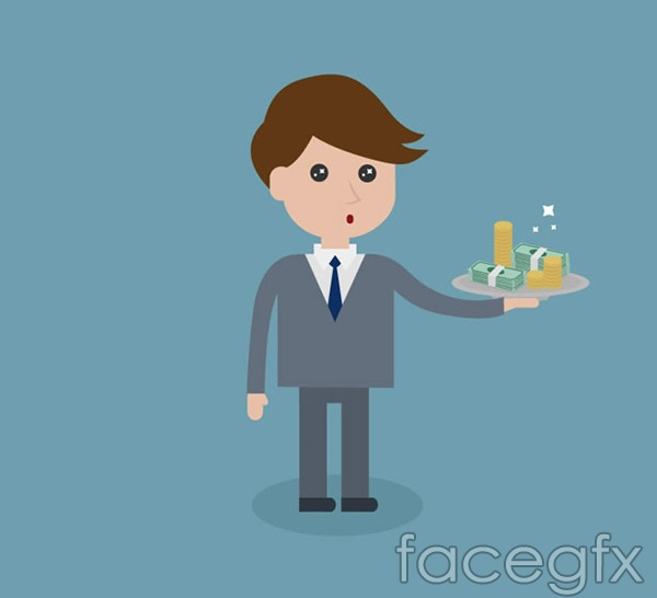 Business man with money vector
