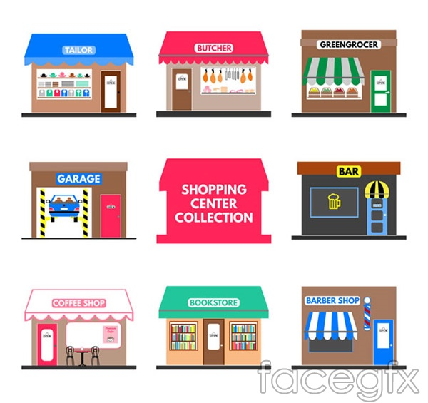 Color shop design vector