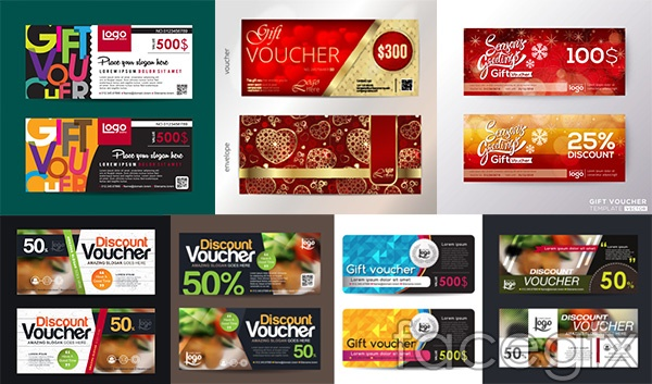Coupon kind ticket vector