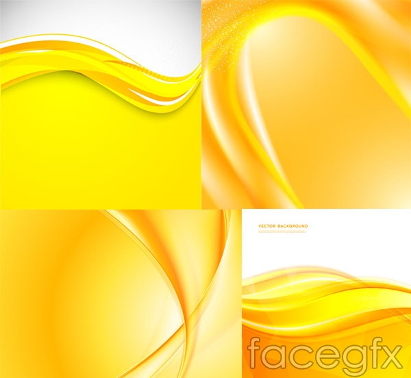 Fashion golden background vector