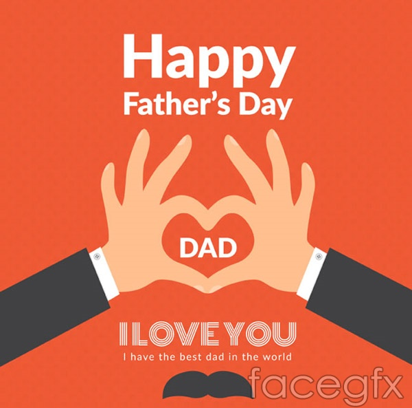 Loving father's Day greeting card vector