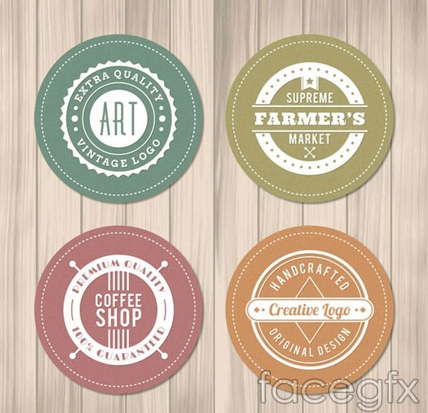 Round the shops tab vector