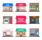 Color shop design vector