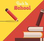 Creative books back to school flyer vector