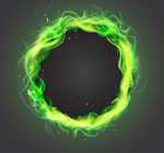 Flame ring-vector
