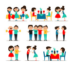Social life people vector