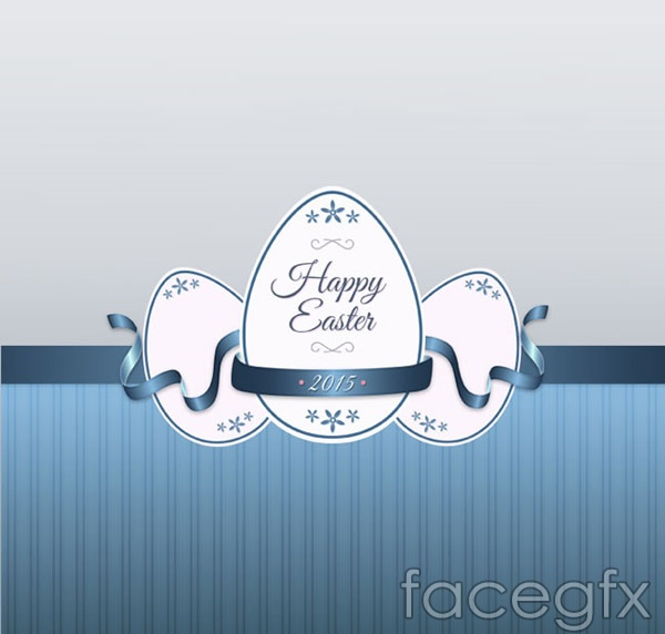 Blue screen with color eggs vector