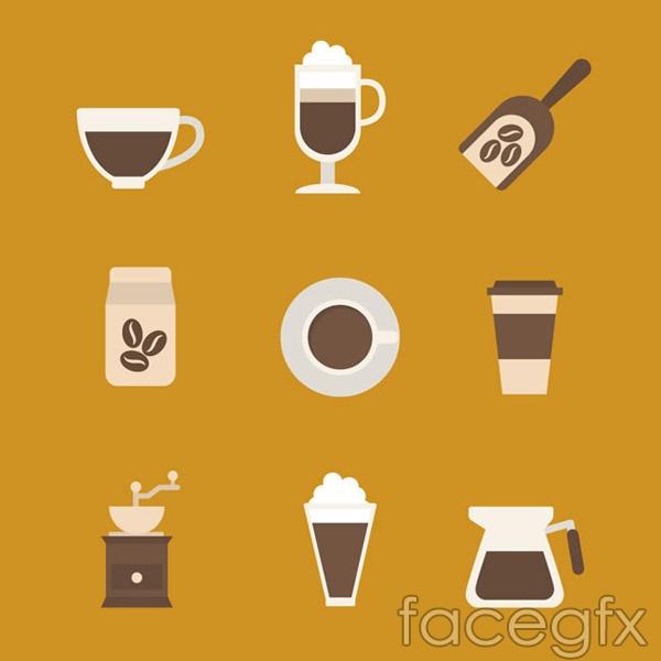 Coffee element icon vector
