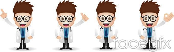 Doctor cartoons characters vector